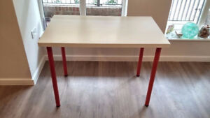 IKEA Computer Desk Table Multi-use (Red Legs) - Good Condition