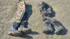 BUSHLINE CAMO INSULATED CHEST WADER AND LUG-SOLE HIP WADER