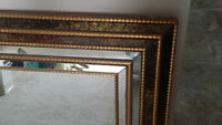 "43"" X 31"" Beautiful Gold and Burgandy Mirror"