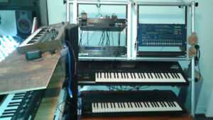 Support a synthétiseur avec 2 sections rack