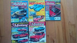 Five Mustang Magazines from the 1980's