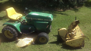 John Deere Tractor & attachments.Sold together or individually.