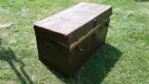 Old army trunk