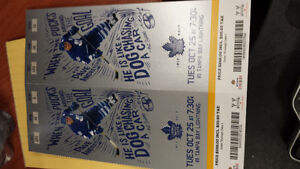 Excellent Half price leafs tickets Tues Oct 25 @ 7:30