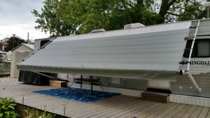 Trailer canopy or awning