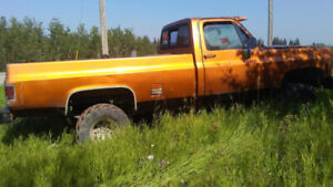 1986 gmc single cab mudder with 72 front clip runs on propain