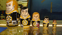 Boston Bruin Russian Nesting Dolls