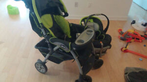 Chicco Cortina Zest SE Travel System, Grey/Green