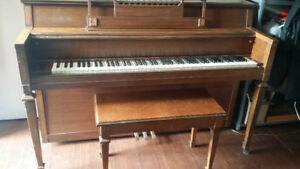 Norman L. Meyer Design Lowrey Upright Piano with Bench