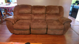Sofa recliner and arm chair recliner set