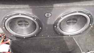 Two 12 inch Kenwood subs