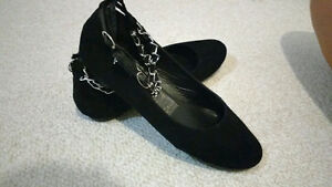 Black and silver shoes