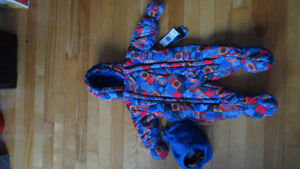 Brand NEW - Gusti snowsuit and Gray Wolf snow boots