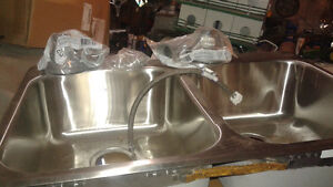 BRAND NEW DELTA stainless steel double kitchen sink
