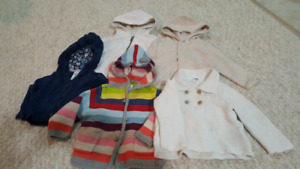 Girls sweaters (6-12 months)