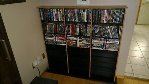 Moving - 200 Blu-Ray and DVDs and Oak Case