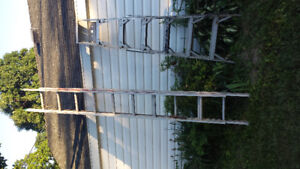 Aluminum Ladders 2 Extension and 2 Painters Ladders