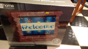 Solar LED Interchangeable Greeting Display