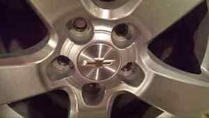 """CHEVY CRUZE OEM 16 """" WHEELS W/ MOUNTED 215 60 16 WINTER TIRES"""