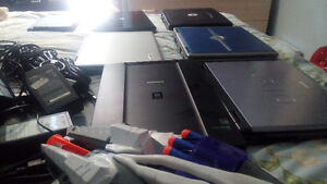 6 laptops and 1 scanner all for 90$ tout pour 90$