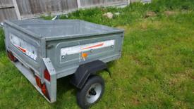 Erde 102 tipping trailer