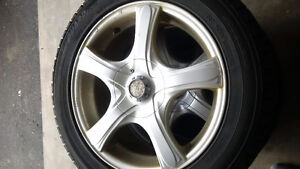 4 Winter tires and rims 205/55/r16 5-108 5-100 bolt Kitchener / Waterloo Kitchener Area image 3