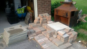 Cheap Interlock and Outdoor Fireplace - You move, you save