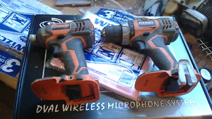 RIGID POWER DRILL AND IMPACT. NO BATTERIES