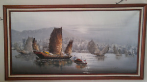 Paintings with sailboats