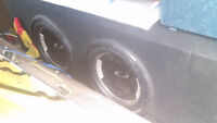 Subs and amp and wires for sale