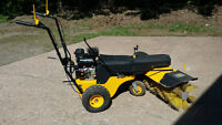 Parking lot/driveway gas powered sweeper