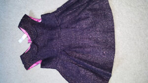 12 month deep purple sparkly dress harsly warn EUC