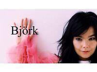 2 x Bjork tickets 24th September