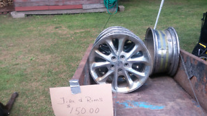 Tire and 4 rims