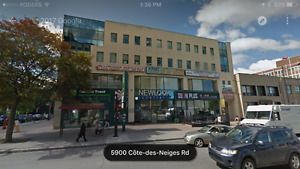 Office Space on Cote des Neiges steps from JGH & Ste. Justine
