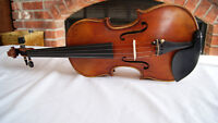 Beautiful Hand Crafted Violin One Piece Back Warm Sound