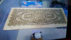 1929 10$ bill in excellent condition for the year only 325$..... London Ontario image 2