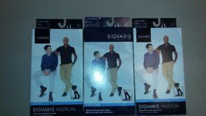 Sigvaris black knee-high compression socks-Men