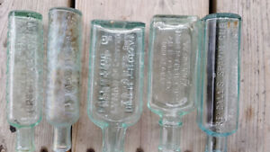 Collection Of 5 Small Empty Antique Bottles