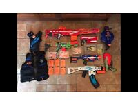 Nerf guns job lot. 7 guns plus loads of extras