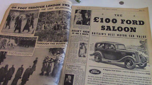 Daily Mirror, Overseas Edition, Royal Funeral, 1936 Kitchener / Waterloo Kitchener Area image 2