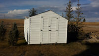 **REDUCED** 10 ft by 12 ft, wood shed kit, completed, has to go!