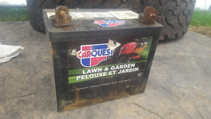 Riding lawnmower battery for sale