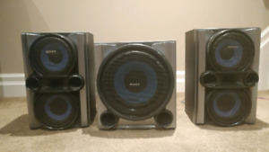 Sony speakers and sub woofer.