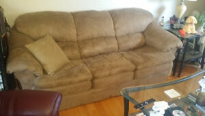 Priced for quick sale!! Three piece sofa; chair; ottoman - like