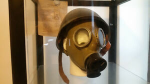 Polish WW2 Helmet and Gas Mask