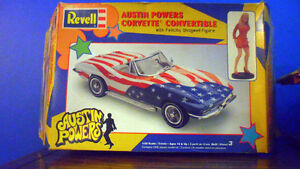 Austin Powers Corvette & Jaguar (Shaguar) 1:25 Scale Model Kits