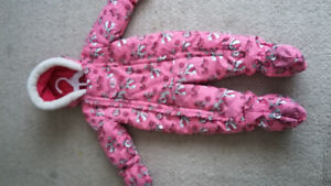 Oshkosh girls snowsuit size 12 months