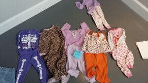 lot vetements fille 18 mois pyjamas
