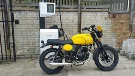 AJS Tempest Scrambler 125cc retro styled commuter brat cafe modern classic 125